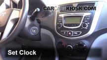2013 Hyundai Accent GLS 1.6L 4 Cyl. Clock