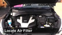 2013 Hyundai Santa Fe GLS 3.3L V6 Air Filter (Engine)