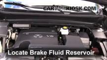 2013 Infiniti JX35 3.5L V6 Brake Fluid