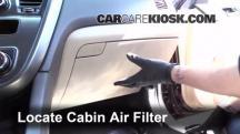 2013 Kia Optima LX 2.4L 4 Cyl. Filtro de aire (interior)