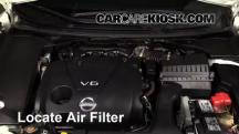 2013 Nissan Maxima SV 3.5L V6 Filtro de aire (motor)