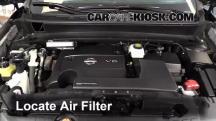 2013 Nissan Pathfinder SV 3.5L V6 Filtro de aire (motor)