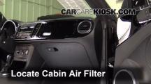 2013 Volkswagen Beetle 2.5L 5 Cyl. Convertible (2 Door) Filtro de aire (interior)