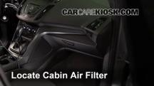 2014 Ford Escape S 2.5L 4 Cyl. Filtro de aire (interior)