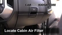 2014 GMC Sierra 1500 SLE 4.3L V6 FlexFuel Crew Cab Pickup Filtro de aire (interior)
