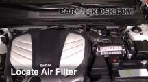 2014 Hyundai Azera Limited 3.3L V6 Air Filter (Engine)
