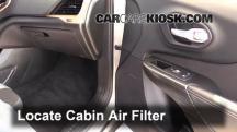 2014 Jeep Cherokee Latitude 3.2L V6 Filtro de aire (interior)