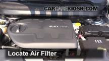2014 Jeep Cherokee Latitude 3.2L V6 Filtro de aire (motor)