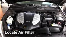 2014 Kia Cadenza Premium 3.3L V6 Air Filter (Engine)