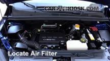 2015 Chevrolet Trax LTZ 1.4L 4 Cyl. Turbo Filtro de aire (motor)