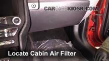2015 Ford Mustang EcoBoost 2.3L 4 Cyl. Turbo Air Filter (Cabin)