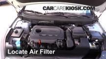 2015 Hyundai Sonata SE 2.4L 4 Cyl. Filtro de aire (motor)