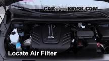 2015 Kia Sedona LX 3.3L V6 Filtro de aire (motor)