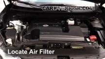 2015 Nissan Murano Platinum 3.5L V6 Filtro de aire (motor)