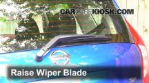 2015 Nissan Versa Note S 1.6L 4 Cyl. Escobillas de limpiaparabrisas trasero