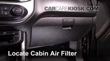 2016 Chevrolet Colorado LT 2.5L 4 Cyl. Crew Cab Pickup Filtro de aire (interior)