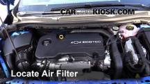 2016 Chevrolet Cruze LT 1.4L 4 Cyl. Turbo Filtro de aire (motor)