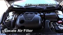 2016 Nissan Maxima SR 3.5L V6 Filtro de aire (motor)