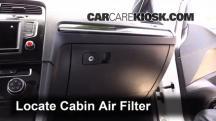 2016 Volkswagen GTI S 2.0L 4 Cyl. Turbo Hatchback (4 Door) Filtro de aire (interior)