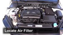 2016 Volkswagen GTI S 2.0L 4 Cyl. Turbo Hatchback (4 Door) Filtro de aire (motor)