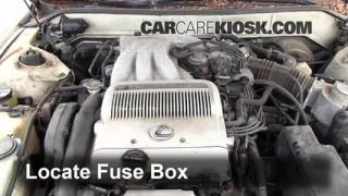 interior fuse box location 1993 1996 lexus es300 1993 lexus blown fuse check 1993 1996 lexus es300