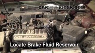 1990-1995 Mercury Sable Brake Fluid Level Check
