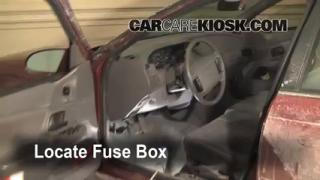 Interior Fuse Box Location: 1990-1995 Mercury Sable