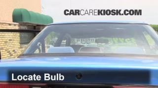Third Brake Light Bulb Change Ford Escort (1991-1996)