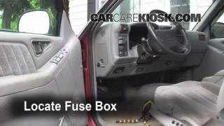 1995-1997 Chevrolet Blazer Interior Fuse Check