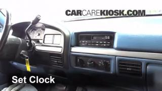 1995 Ford F-250 XL 7.5L V8 Standard Cab Pickup (2 Door) Clock Set Clock