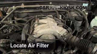 1996-2000 Nissan Pathfinder Engine Air Filter Check