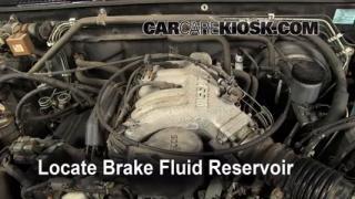 1996-2000 Nissan Pathfinder Brake Fluid Level Check
