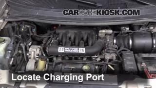 1996 Ford Windstar GL 3.8L V6 Air Conditioner Recharge Freon