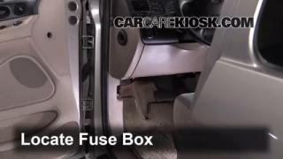 interior fuse box location 1995 1998 ford windstar 1996 Jeep Cherokee Sport