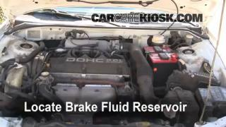 1996 Mitsubishi Eclipse RS 2.0L 4 Cyl. Brake Fluid Check Fluid Level