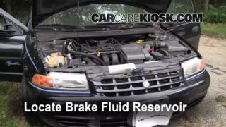 1996-2000 Plymouth Breeze Brake Fluid Level Check