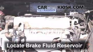 1992-1996 Toyota Camry Brake Fluid Level Check