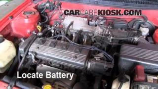 Battery Replacement: 1995-1998 Toyota Tercel