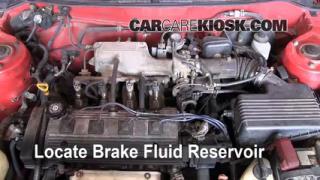 1993-1997 Toyota Corolla Brake Fluid Level Check
