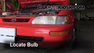 1996 Toyota Corolla 1.6L 4 Cyl. Lights Headlight (replace bulb)