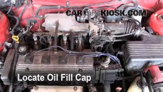 How to Add Oil Toyota Corolla (1993-1997)