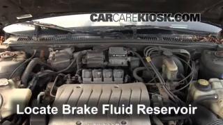 1995-1999 Oldsmobile Aurora Brake Fluid Level Check