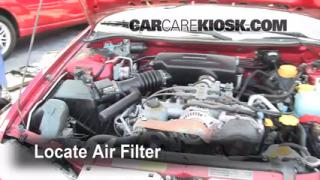 1995-1999 Subaru Legacy Engine Air Filter Check