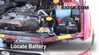 1997 Subaru Legacy L 2.2L 4 Cyl. Wagon Battery Replace