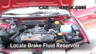 1997 Subaru Legacy L 2.2L 4 Cyl. Wagon Brake Fluid Check Fluid Level
