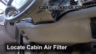 Cabin Filter Replacement: Buick Park Avenue 1997-2005
