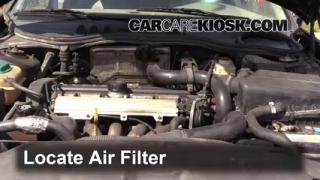 1990-1992 Volvo 740 Engine Air Filter Check