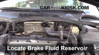1990-1992 Volvo 740 Brake Fluid Level Check