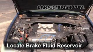 interior fuse box location acura cl acura cl 1997 1999 acura cl brake fluid level check
