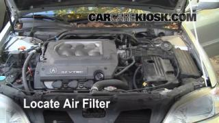 1999-2003 Acura TL Engine Air Filter Check